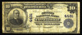 National Bank Notes:Pennsylvania, Connellsville, PA - $10 1902 Plain Back Fr. 627 The Second NB Ch. #4481. Moderate soiling is noted though the paper is...