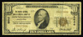 National Bank Notes:Pennsylvania, Downingtown, PA - $10 1929 Ty. 1 The Grange NB of Chester CountyCh. # 8646. A Very Good-Fine note from one of the ...