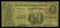 National Bank Notes:Pennsylvania, Erie, PA - $1 Original Fr. 380 The Marine NB Ch. # 870. Thisinstitution was chartered in 1865 and issued all denominat...