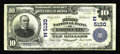 National Bank Notes:Pennsylvania, Ford City, PA - $10 1902 Plain Back Fr. 632 The First NB Ch. #(E)5130. Six Large notes are documented in the census wit...