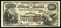 National Bank Notes:Pennsylvania, Harrisburg, PA - $10 1882 Brown Back Fr. 483 The Merchants NB Ch. #(E)3713. The penned signatures are dark and were exe...