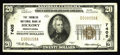 National Bank Notes:Pennsylvania, Hickory, PA - $20 1929 Ty. 1 The Farmers NB Ch. # 7405. This may well be one of the rarest Series 1929 examples from Pen...