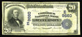 National Bank Notes:Pennsylvania, Jefferson, PA - $20 1902 Plain Back Fr. 653 The Codorus NB Ch. #(E)9660. This note now brings the total in large size ...
