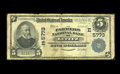 National Bank Notes:Pennsylvania, Lititz, PA - $5 1902 Plain Back Fr. 607 The Farmers NB Ch. #(E)5773. This example is documented in the Kelly census wh...