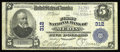 National Bank Notes:Pennsylvania, Media, PA - $5 1902 Plain Back Fr. 598 The First NB Ch. # 312. Anice large example from this well collected Delaware Co...