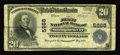 National Bank Notes:Pennsylvania, Monongahela City, PA - $20 1902 Plain Back Fr. 659 The First NB Ch. # 5968. Six Large in the census and that does not in...
