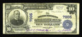 National Bank Notes:Pennsylvania, Northumberland, PA - $10 1902 Plain Back Fr. 624 The NorthumberlandNB Ch. # 7005. Purple stamped signatures of Jno. A. ...