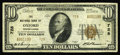 National Bank Notes:Pennsylvania, Oxford, PA - $10 1929 Ty. 2 The NB of Oxford Ch. # 728. Officers are M.E. Snodgrass and F.E. Brown. A back margin reveal...