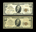 National Bank Notes:Pennsylvania, Phoenixville, PA - $10 1929 Ty. 1 The Farmers & Mechanics NB Ch. # 1936 Fine. Phoenixville, PA - $10 1929 Ty. 2 ... (Total: 2 notes)