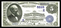National Bank Notes:Pennsylvania, Pittsburgh, PA - $5 1882 Date Back Fr. 537 The Bank of Pittsburgh,National Assoc Ch. # (E)5225. This bank succumbed to ...