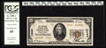 National Bank Notes:Pennsylvania, Portland, PA - $20 1929 Ty. 2 The Portland NB Ch. # 13606. This isthe highest graded note for this bank in the Kelly ce...