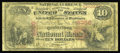 National Bank Notes:Pennsylvania, Quakertown, PA - $10 1875 Fr. 418 The Quakertown NB Ch. # 2366. A very well circulated but still intact Series 1875 $10 ...