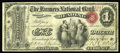 National Bank Notes:Pennsylvania, Reading, PA - $1 Original Fr. 380 The Farmers NB Ch. # 696. A veryscarce type and denomination from an otherwise availa...