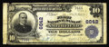 National Bank Notes:Pennsylvania, Smithfield, PA - $10 1902 Plain Back Fr. 624 The First NB Ch. #6642. This one bank town in Fayette County was in busin...