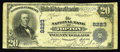 National Bank Notes:Pennsylvania, Topton, PA - $20 1902 Plain Back Fr. 651 The NB of Topton Ch. # 8223. This bank is quite readily available in the 1929 ...