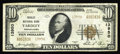 National Bank Notes:Pennsylvania, Yardley, PA - $10 1929 Ty. 2 Yardley NB Ch. # 13950. It is theunusual sale when we have two examples to offer from a ba...