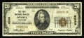 National Bank Notes:Tennessee, Oneida, TN - $20 1929 Ty. 1 The First NB Ch. # 8039. A scarcer notefrom the only issuer in this small town. Fine....