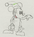Animation Art:Production Drawing, Mickey's Good Deed Mickey Mouse as Santa Production Drawing(Walt Disney, 1932)....