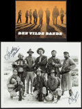 """Movie Posters:Western, The Wild Bunch (Warner Brothers, 1969). Autographed Photo (8"""" X 10"""") & Danish Program (12 Pages). Western.. ... (Total: 2 Items)"""