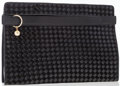 Luxury Accessories:Bags, Charles Jourdan Black Woven Leather Clutch Bag. ...