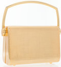 Luxury Accessories:Bags, Saks Fifth Avenue Gold Minaudiere Evening Bag. ...