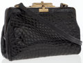 Luxury Accessories:Bags, Titti Dell'Acqua by Maxima Black Crocodile Evening Bag. ...