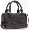 Luxury Accessories:Bags, Siso Brown Crocodile Mini Tote Bag. ...