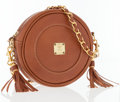 Luxury Accessories:Bags, MCM Light Brown Leather Crossboday Bag with Gold Chain Strap. ...