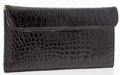 Luxury Accessories:Bags, Kleinberg Sherrill Black Crocodile Clutch Bag. ...