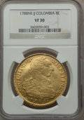 Colombia, Colombia: Charles III gold 8 Escudos 1788 NR-JJ VF30 NGC,...