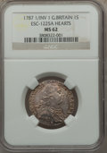 Great Britain, Great Britain: George III Shilling 1787 MS62 NGC,...