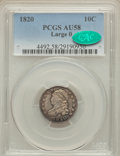 Bust Dimes: , 1820 10C Large 0 AU58 PCGS. CAC. PCGS Population (13/75). NGCCensus: (36/134). Mintage: 942,587. Numismedia Wsl. Price for...