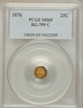 California Fractional Gold: , 1876 25C Indian Octagonal 25 Cents, BG-799C, High R.4, MS65 PCGS.PCGS Population (17/0). NGC Census: (0/1). ...