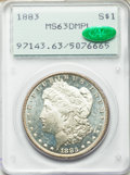Morgan Dollars: , 1883 $1 MS63 Deep Mirror Prooflike PCGS. CAC. PCGS Population (239/355). NGC Census: (96/187). Numismedia Wsl. Price for p...