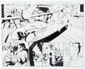 Original Comic Art:Splash Pages, Derec Aucoin and Walden Wong Avengers United They Stand #1Splash Page Spread #2-3 and Page 11 Hawkeye, Black Pant... (Total:3 Original Art)