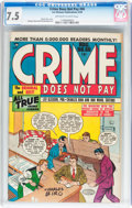 Golden Age (1938-1955):Crime, Crime Does Not Pay #66 (Lev Gleason, 1948) CGC VF- 7.5 Off-white to white pages....