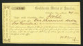 Confederate Notes:Group Lots, Interim Depository Receipt Columbus, GA- $100 Mar. 24, 1864 TremmelGA-52.. ...