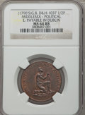 World Coins & Currency, (1790's) Anti-Slavery Halfpenny Token, Am I Not a Man and a Brother, MS64 Red and Brown NGC. Dalton & Hamer-1037 Middlesex. ...
