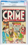 Golden Age (1938-1955):Crime, Crime Does Not Pay #62 (Lev Gleason, 1948) CGC VF+ 8.5 Off-white to white pages....