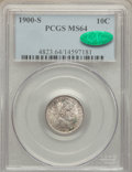 Barber Dimes: , 1900-S 10C MS64 PCGS. CAC. PCGS Population (28/30). NGC Census:(27/14). Mintage: 5,168,270. Numismedia Wsl. Price for prob...