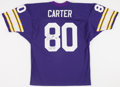 "Football Collectibles:Uniforms, Cris Carter ""All I do is catch TD"" Signed Minnesota Vikings Jersey...."