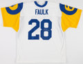 Football Collectibles:Uniforms, Marshall Faulk Signed Los Angeles Rams Jersey....