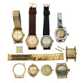 Timepieces:Other , A Lot Of Nine Miscellaneous Watch Items For Parts Or Repair. ... (Total: 9 Items)
