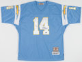 Football Collectibles:Uniforms, Dan Fouts Signed San Diego Chargers Jersey....