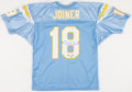 Football Collectibles:Uniforms, Charlie Joiner Signed San Diego Chargers Jersey....