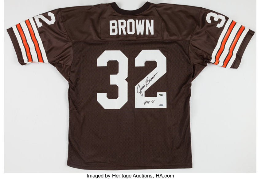 wholesale dealer 868e7 ed588 Jim Brown Signed Cleveland Browns Jersey.... Football ...