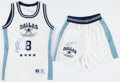 """Football Collectibles:Uniforms, 1991 Troy Aikman Game Worn, Signed """"Dallas All-Stars"""" Basketball Uniform. ..."""