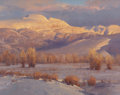 Fine Art - Painting, American:Contemporary   (1950 to present)  , JIM WILCOX (American, b. 1941). Sleeping Indian's Winter.Oil on canvas. 15-3/4 x 20 inches (40.0 x 50.8 cm). Signed low...
