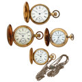 Timepieces:Pocket (post 1900), A Lot Of Four Hunter's Case Pocket Watches. ... (Total: 4 Items)