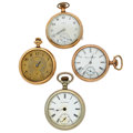 Timepieces:Pocket (post 1900), A Lot Of Four Open Face Pocket Watches For Parts Or Repair. ...(Total: 4 Items)
